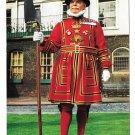 UK England Tower of London Yeoman Warder John Hinde Vintage Postcard 4X6