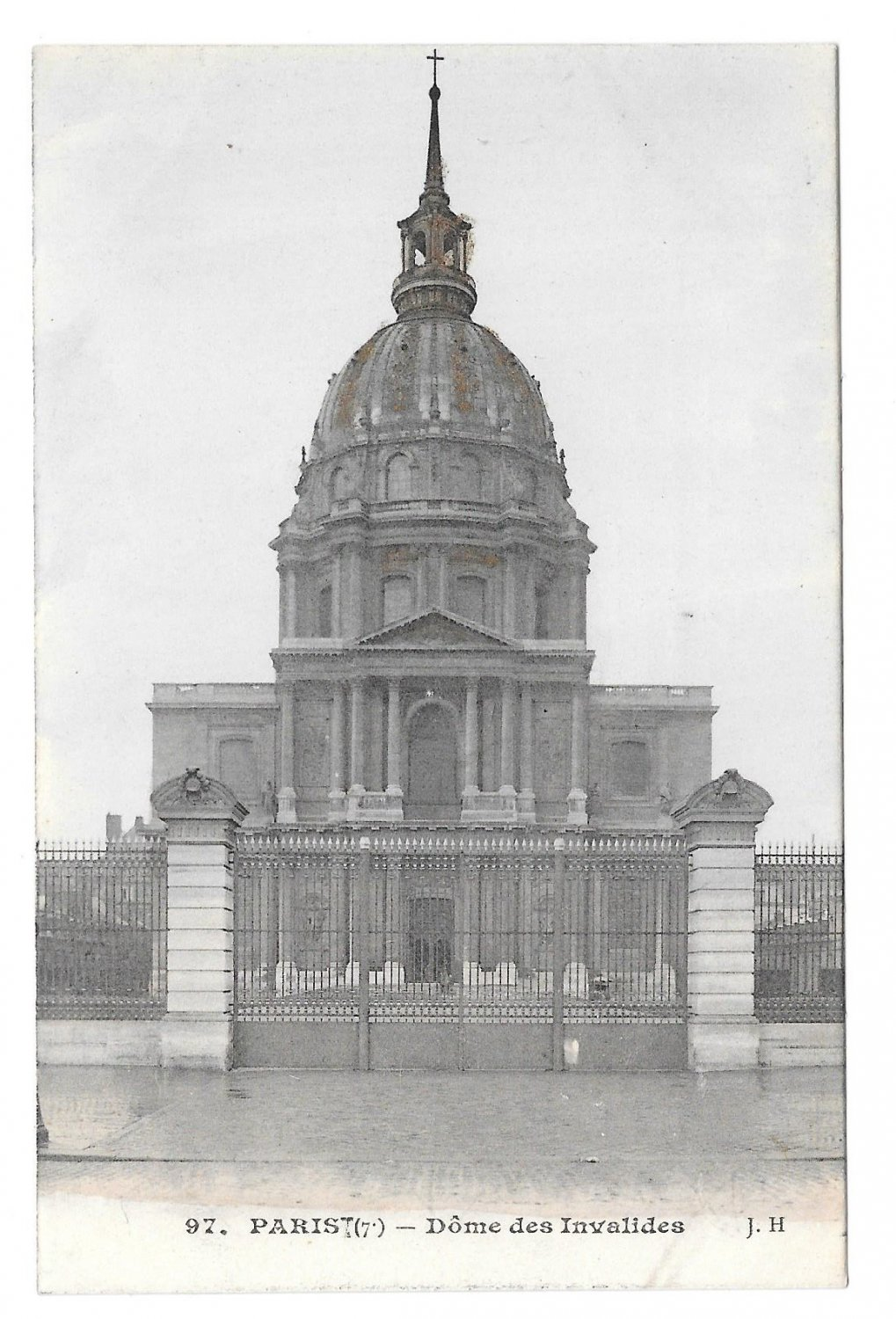 Paris France Dome des Invalides Vintage Postcard