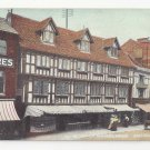 UK Lincoln England Old Houses on the High Bridge Vtg Mortons ca 1910 Postcard
