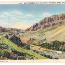 WA Switchback Beautiful Highway thru Mountain Washington State View Vtg Linen Postcard