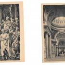 France Paris Le Pantheon La Nef The Nave Bapteme De Clovis 2 Vintage Postcards
