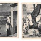 Paris France Le Pantheon Saint Genevieve Miracle Paris  2 Vintage Art Postcards