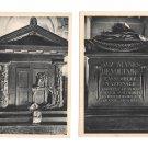 Paris France Le Pantheon Tomb Voltaire Tombeau Rousseau 2 Vintage Postcards