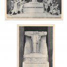 Paris France Le Pantheon Monuments Heroes Martyrs National Convention 2 Postcards