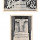 Paris France Le Pantheon Monuments Heroes Martyrs National Convention 2 Postcards