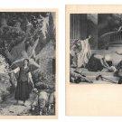 Paris France Pantheon Sainte Joan Vision Martyrdom St Denis 2 Vintage Postcards