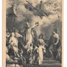Paris France Pantheon Coronation of Charlemagne Painting H Levy Vintage Postcard