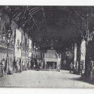 Scotland Edinburgh Castle Banqueting Hall Vtg Inglis Postcard Interior View