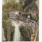UK England Waterfall Isle of Wight Shanklin Chine Vtg T E Porter Postcard c1910