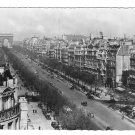 France Paris Avenue Champs Elysees Arc de Triomphe Vintage Glossy Photo Postcard