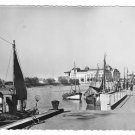 France Trouville Fishing Boats Harbor La Cigogne 4X6 Postcard Glossy Photo