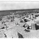 France Deauville Beach Bathers Le Plage Fleurie Glossy Photo Postcard 4X6