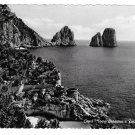 Italy Capri Faraglioni Saracen Tower The Crags Rocks Glossy Photo Postcard 4X6 R. Renza
