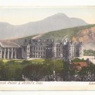 UK Scotland Edinburgh Holyrood Palace and Arthur's Seat Vintage Postcard
