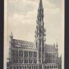 Bruxelles Belgium Brussels Hotel De Ville Horse Carriages Vtg Postcard