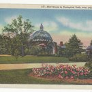MI Detroit Zoological Park Royal Oak Bird House Vintage Linen Postcard 1938