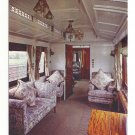 UK Train Royal Saloon Car Interior London North Western Railway Vintage RR Postcard 4X6