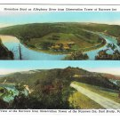 Allegheny River Narrows Inn Horsehoe Bend 2 Views East Brady PA Vintage Postcard