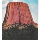 Wyoming Devils Tower Black Hills WY  Vtg Rushmore Linen Postcard