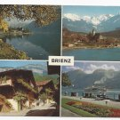 Switzerland Brienz Lake Multiview Vintage Arthur Bauer 4X6 Postcard