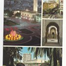 Morocco Maroc Casablanca Multiview Four Views Vintage Postcard 4X6 FISA
