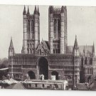 UK Lincoln Cathedral England West Front Vtg TT&S Queen Series Postcard Church