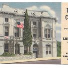 TX San Antonio Military USO Club Army Navy Air Force Soldiers 1957 Postcard