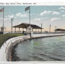 US Bay Shore Park Baltimore MD The Pier  Vintage Postcard