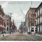 WV Wheeling West Virginia Main Street Flag cancel AC Bosselman 1909 UDB Postcard