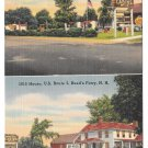 Motel 1815 House Reeds Ferry NH Cabins White Mountains 1951 Vintage Postcard