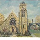 Franklin PA St John's Episcopal Church Advertising Service Hours Vintage Postcard