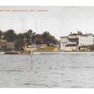 Canada Ontario Gananoque Inn St Lawrence River 1935 Vintage Valentine Black Postcard