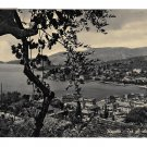 Italy Riviera Rapallo View from Olive Trees Port Harbor Glossy Photo Postcard 4X6