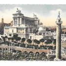 Italy Rome Trajan Forum Victor Emmanuel Monument Tinted Litho Postcard 4X6