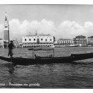 Italy Venice Venezia Panorama w Gondola Glossy Vera Foto 4X6 Photo Postcard