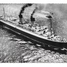 SS Ile de France French Transatlantic Ocean LIner Ship Aerial View Glossy Photo Postcard 4X6