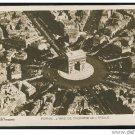 Paris France Arc de Triomphe Aerial View AN Paris Vintage Postcard