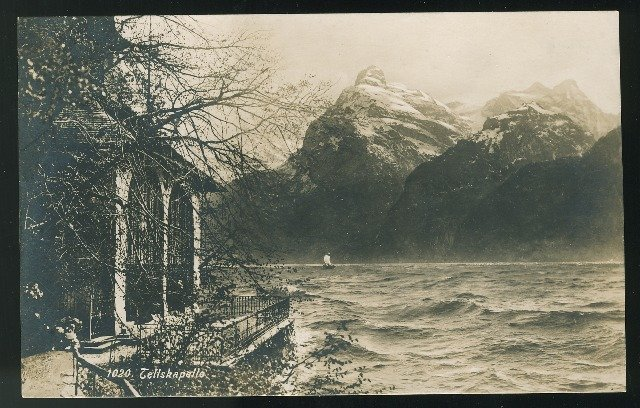 Switzerland Tellskappelle am Vierwaldstattersee Tells Chapel E. Goetz Postcard
