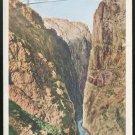CO Railroad Suspension Bridge Royal Gorge Grand Canyon of the Arkansas Postcard