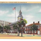 Philadelphia PA Independence Hall Curteich Vintage Linen Postcard
