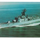 US Navy Guided Missile Naval Escort Ship USS Talbot DEG-4 Comm 1967 Vintage Postcard