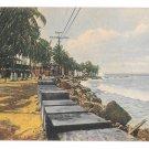 Norddeutscher Lloyd Bremen Colon Panama Entrance to Channel Vintage Postcard