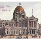 Chicago IL Federal Building 1913 Post Office US Courts Custom House Vtg Postcard