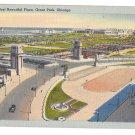 Chicago IL Worlds Most Beautiful Plaza Grant Park Vtg Tichnor Linen Postcard