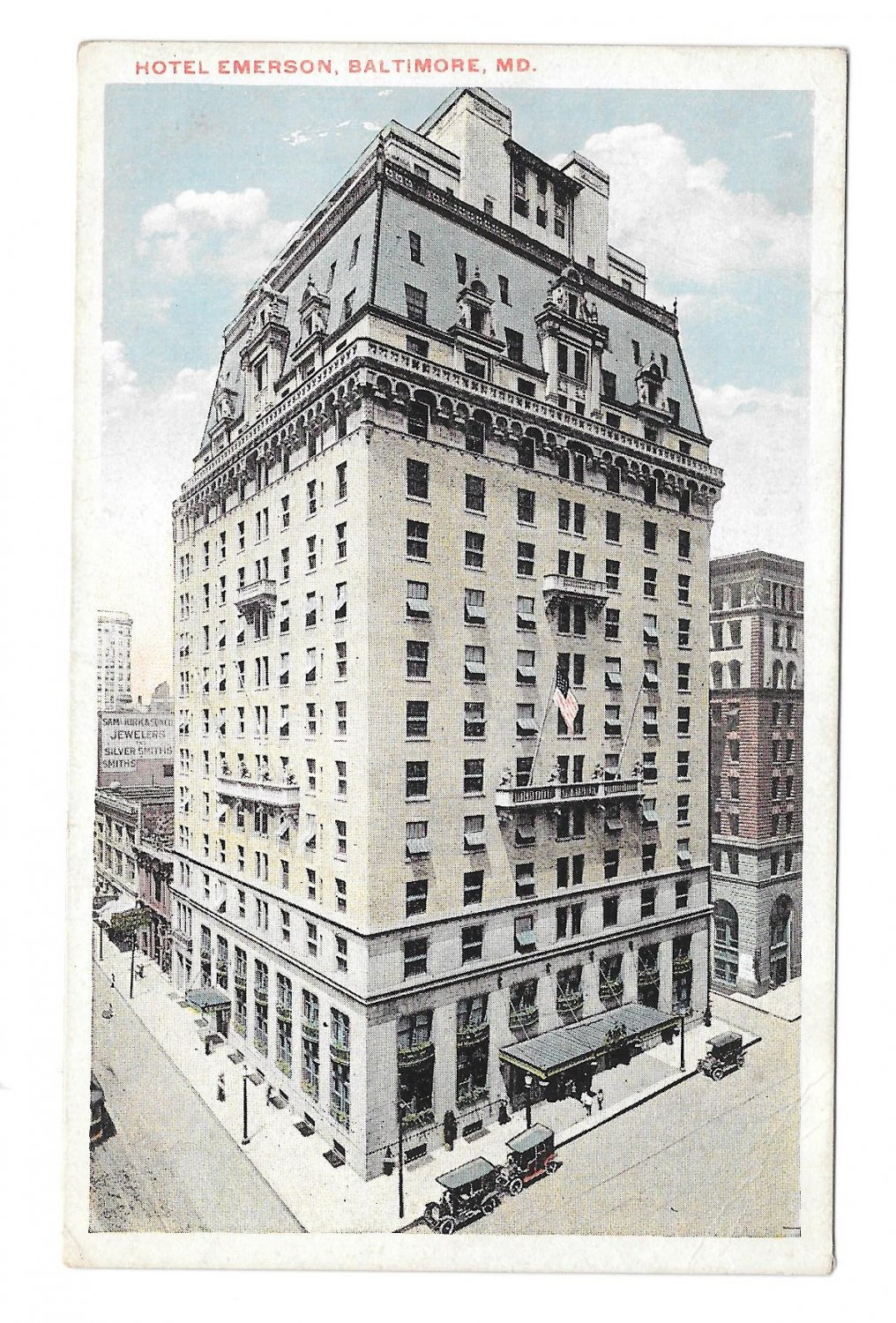Maryland Hotel Emerson Baltimore MD Vintage Union News Postcard
