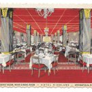Springfield MA Hotel Highland Regency Dining Room Curteich Postcard Deckle Edge