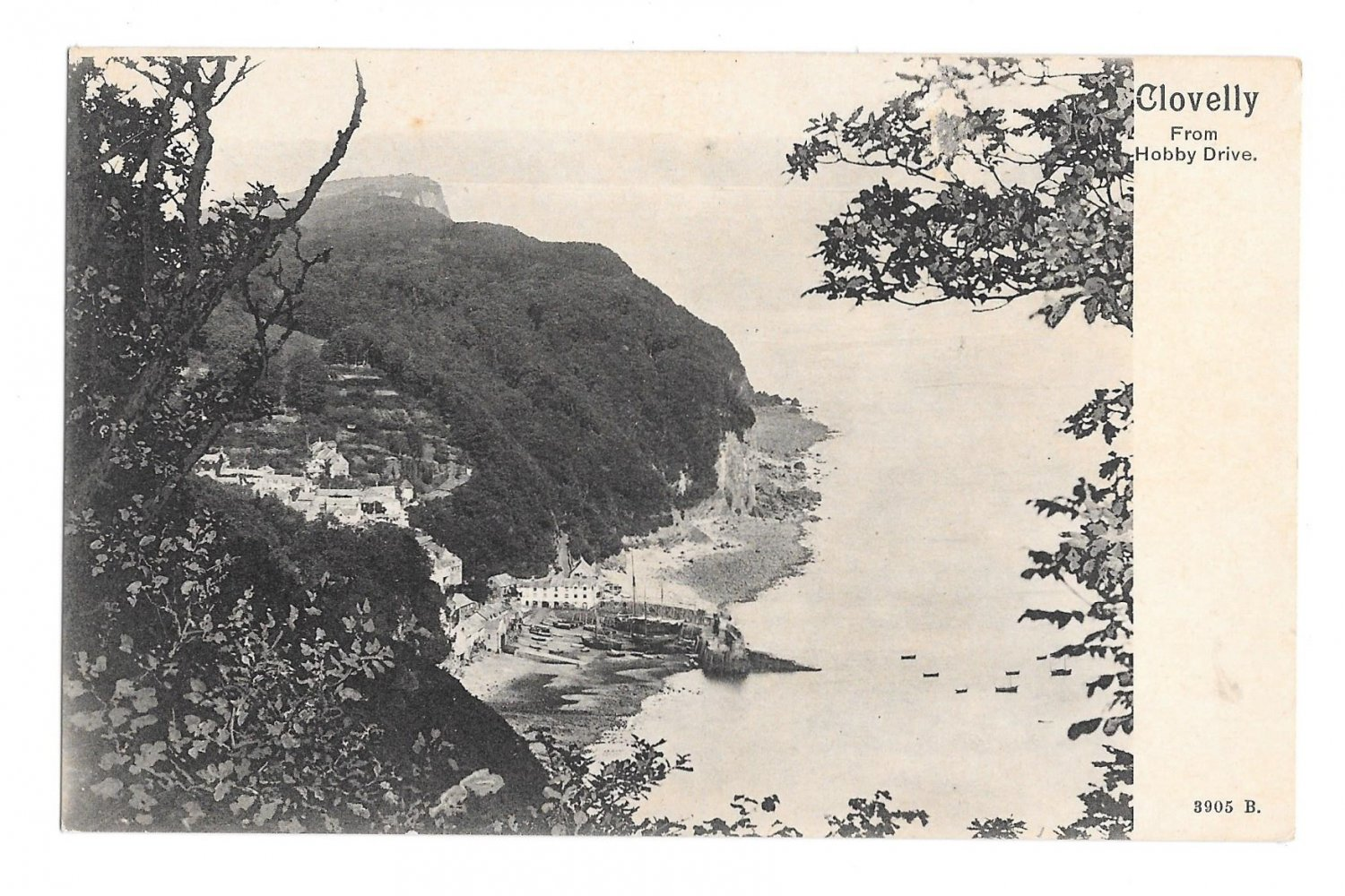 UK Clovelly from Hobby Drive Devon England Vintage UDB Postcard