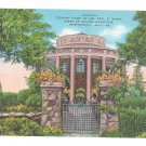 AL Birmingham Vestavia Home Geo Ward Temple of Vesta Vintage EC Kropp Linen Postcard