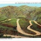 Denver CO Mountain Parks Double Hairpin Road Lookout Mouontain Colorado Vintage Postcard