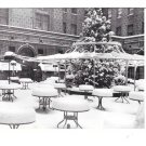 Chicago IL Jacques French Restaurant Winter Snow Outdoor Dining Pation Postcard